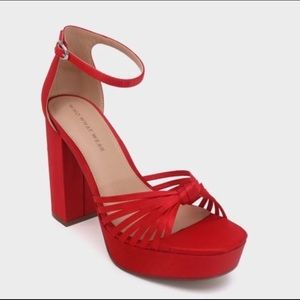 Ella Red Heels by Who What Wear